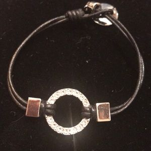 New corded. black and silver bracelet
